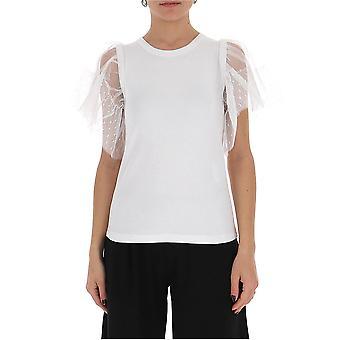 Red Valentino Tr0mg06b5540bo Women's White Cotton T-shirt