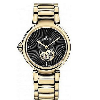 Edox kellot LaPassion Open Heart Naisten Watch Automaattinen 85025 37RM NIR