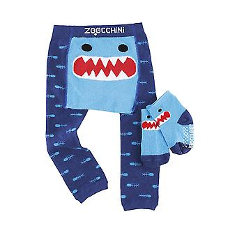 ZOOCCHINI Grip-Easy Comfort Crawler Legging - Sock Set