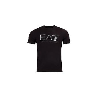 EA7 by Emporio Armani Cotton Printed Logo Black T-shirt