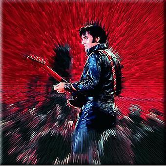 Elvis Presley koelkast magneet Shine nieuwe officiële 76 x 76 mm