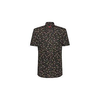 ヒューゴボスエンプソン-wエクストラスリムフィットカーキシャツ