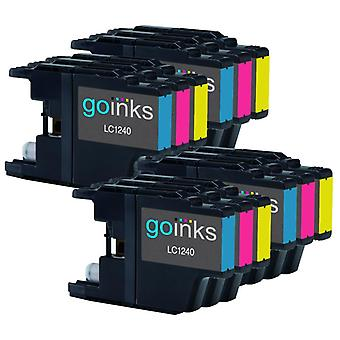 4 Sets of C/M/Y Ink Cartridges to replace Brother LC1240 & LC1220 Compatible / non-OEM for Brother DCP & MFC Printers (12 Inks)