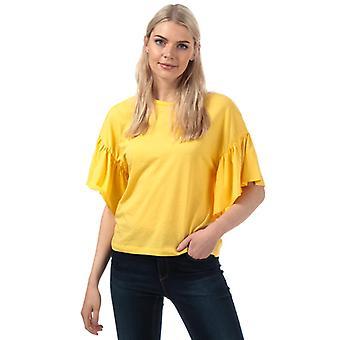 Mujeres's Vero Moda Rebecca Jersey Top en Amarillo