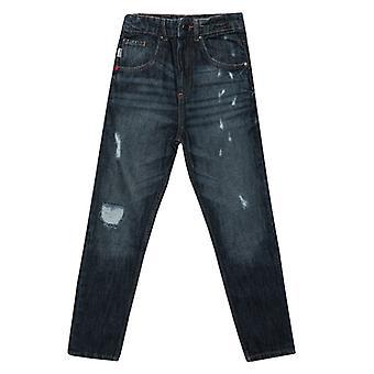 Boy & apos; s Franklin och Marshall Junior Morot Fit Jeans i blått