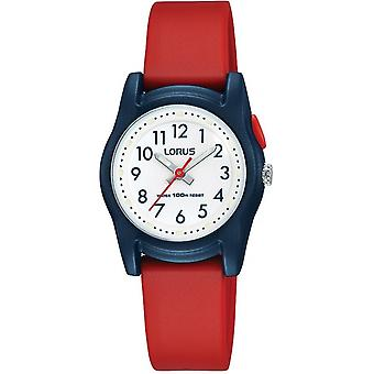Lorus R2383MX-9 Child's Blue Case With Red Strap Wristwatch