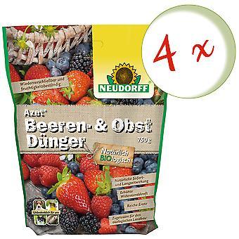 Sparset: 4 x NEWDORFF Azet® Marja ja hedelmälannoitetta, 750 g