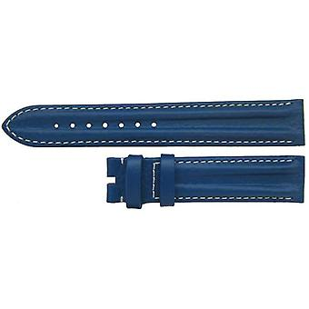 Authentic omega watch strap 18mm blue calf leather sports style