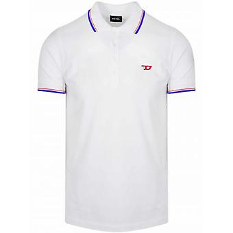ديزل الأبيض تي راندي قميص بولو جديد