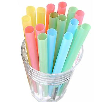 Colorful Large Drinking Straws For Bubble Smoothie