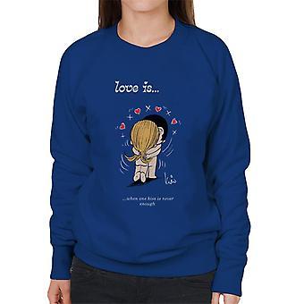 Kærlighed er, når et kys er aldrig nok Women's Sweatshirt