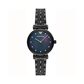Armani Watches Ar11268 Black Mother Of Pearl Stainless Steel Ladies Watch