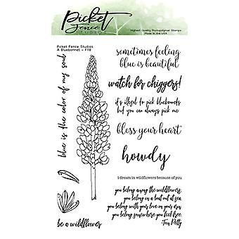 Picket Fence Studios A Bluebonnet Clear Stamps