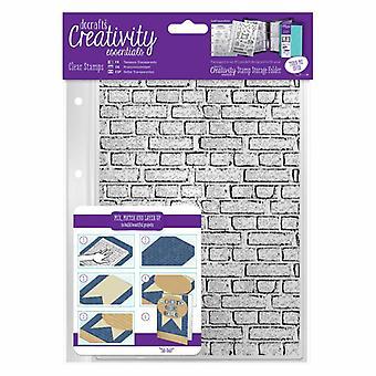 DocraftsA5 Clear Stamp Set (1pcs) - Brickwork Background