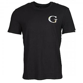 Denk dat G Space Black Logo Crew Neck T-shirt M0YI86J1300