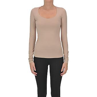 Acne Studios Ezgl151068 Women's Pink Cotton T-shirt