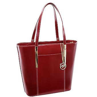 97736, Leather Ladies' Tote With Tablet Pocket