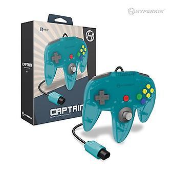 Nintendo 64 Captain Premium Controller For N64 (Turquoise) - Hyperkin