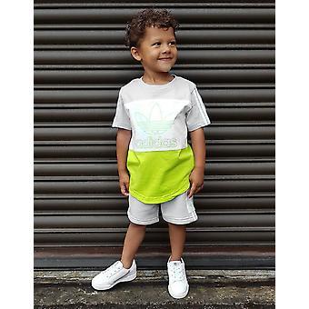 Új adidas Originals Infant Spirit T-Short / Rövidnadrág Set Grey