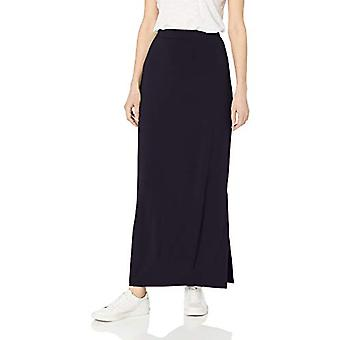 Brand - Daily Ritual Women's Supersoft Column Skirt, Navy, Medium