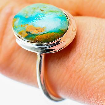 Peruvian Opal Ring Size 8.25 (925 Sterling Silver)  - Handmade Boho Vintage Jewelry RING25730