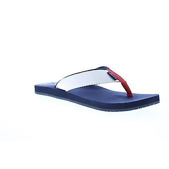 Tommy Bahama Ohana Mens White Canvas Slip Op Flip-Flops Sandals Schoenen