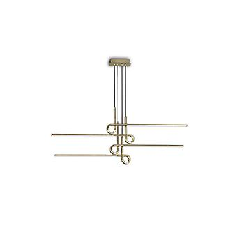 Semi Flush Plafondlamp Hanger 42W LED, 3000K, 3360lm, Antiek Messing