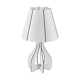 Eglo Cossano - 1 Lampe de table légère Blanche, E27