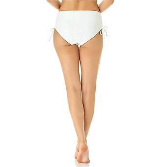 Catalina Women's Side Tie Bikini Swim Bottom Swimsuit, White, Medium