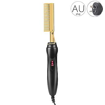 Hair smooth iron straightening heating brush comb multi-function curler