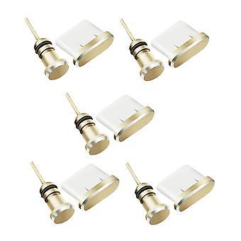 Capace anti-praf Compatibile pentru portul de încărcare de tip C Gold