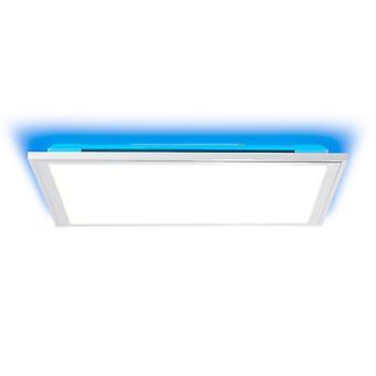 BRILLIANT Lamp Alissa LED plafondpaneel 40x40cm zilver/wit   1x 32W LED geïntegreerd (Samsung chip), (2500lm, 2700-6200K)