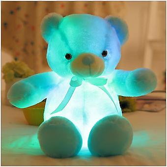 Creative Light Up Led Teddy Bear Stuffed Animals Peluche Toy Coloré Rougeoyant