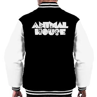 Animal House White Logo Men's Chaqueta Varsity