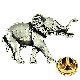 Ties Planet Elephant Anglais Pewter Lapel Pin Badge
