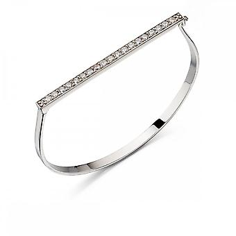 Fiorelli Silver Pave Hinged Bracelet B4861C