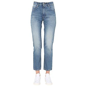 Ami H20fd010601480 Mujeres's Blue Cotton Jeans