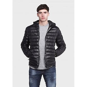 883 Police Axe Quilted Black Hooded Jacket