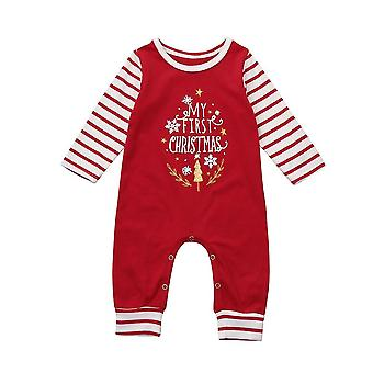 Newborn Baby, Letter Rompers Jumpsuit, Outfit -striped Long Sleeve