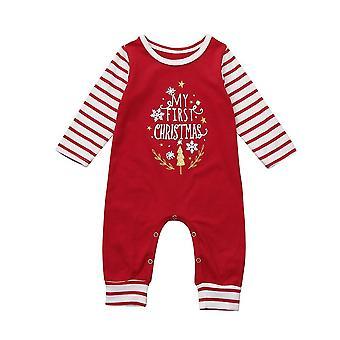 Neugeborenes Baby, Brief Strampler Jumpsuit, Outfit - gestreifte lange Ärmel