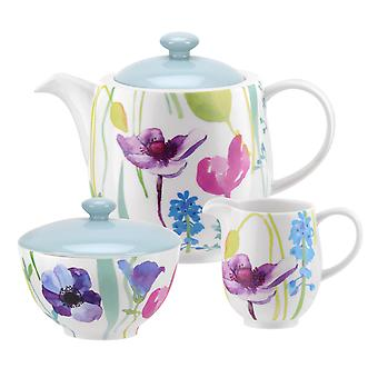 Portmeirion Water Garden 3 Piece Tea Set