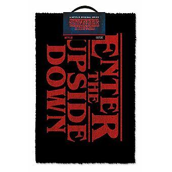 "Stranger Things ""Enter The Upside Down"" Door Mat | Official Merchandise"