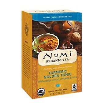 Numi Tea kurkuma Tea, Arany Tonic 12 Táskák