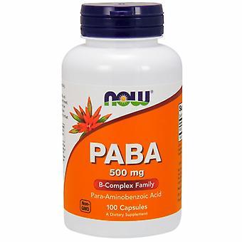 Nu Foods Paba, 500 mg, 100 Caps