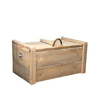Wood4you - Spielzeug Box Armee Gerüst Holz - 80Lx44Hx50D cm