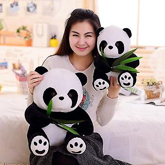 Funny Panda With Bamboo Leaves Plush Toys, Soft Cartoon, Animal And Whitem