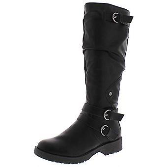 أمريكا خرقة النساء برينلي أغلقت قبل منتصف الساق الأحذية القتالية