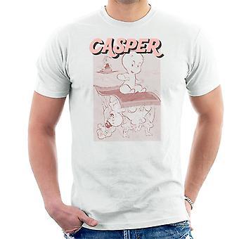 Casper The Friendly Ghost Characters On Flying Carpet Men's T-Shirt
