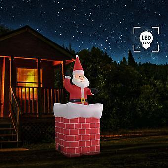 Santa Claus i den öppna spisen Automatiska rörelsen LED IP44 180 cm