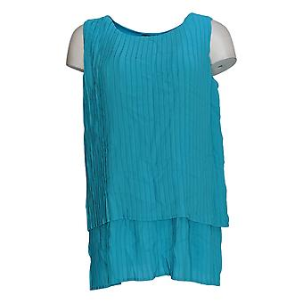 DG2 by Diane Gilman Women's Top Blue Tunic Polyester Sleeveless 722-000